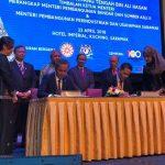 Majlis Menandatangani Memorandum Persefahaman (MoU) antara Agensi Remote Sensing Malaysia (ARSM) dan Jabatan Tanah dan Survei Sarawak (JTSS)