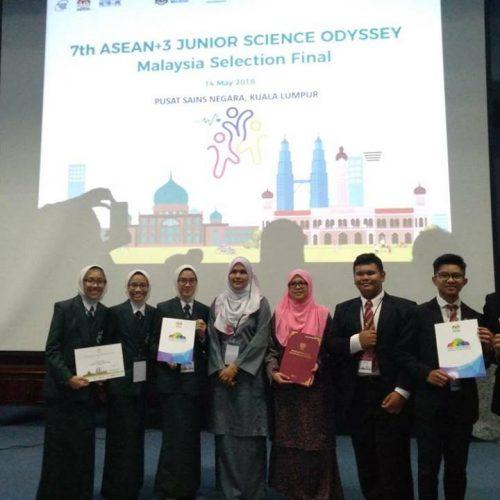 Sesi Pemilihan Pasukan Bagi Asean+3 Junior Science Odyssey 2018