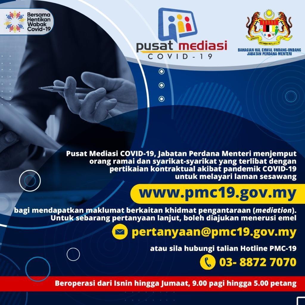 Perkhidmatan Pusat Mediasi Covid 19 PMC 19