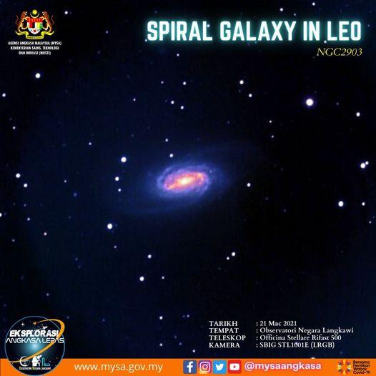 Spiral Galaxy in Leo